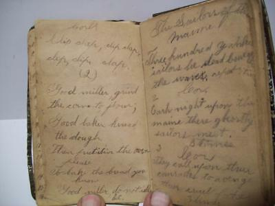 INTERESTING Antique 1800's PERSONAL DIARY BOOK w/Numerous HANDWRITTEN POETRY +++
