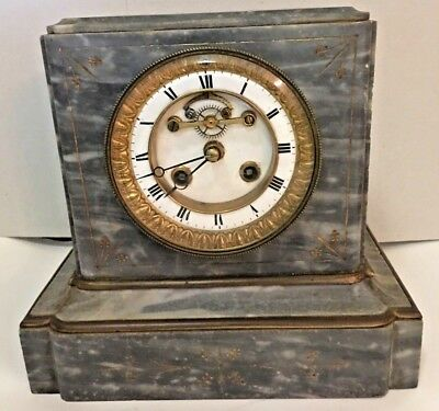 Antique Mantle Clock French Made 1890's Eight Day Mantle Clock