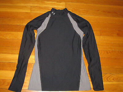 Under Armour Coldgear Long Sleeve Black/gray Compression Jersey Womens Medium