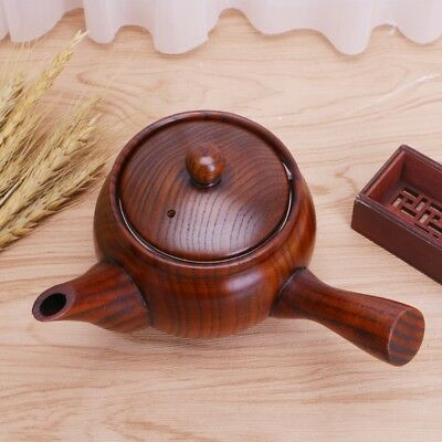Chinese Style Nature Wooden Teapot Portable Coffee Tea Maker Pot Kettle