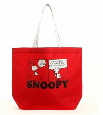 1pc Brand New Peanuts SNOOPY Tote Bag Shopping Bag Shoulder Bag free ship Red