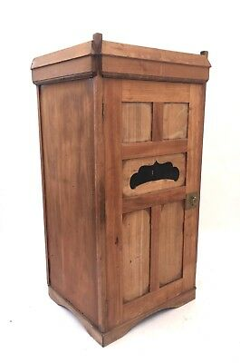 Antique Victorian Oak Hall Cupboard Armoire Rustic Farmhouse Vintage Wardrobe