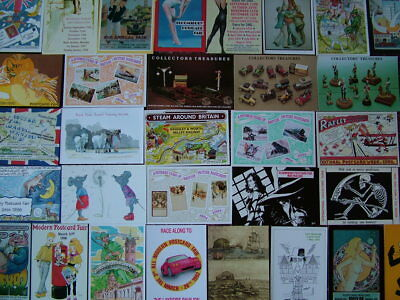 100 Unused POSTCARD & COLLECTORS FAIRS  Postcards. Very Good - Mint condition.