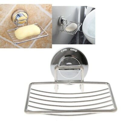 Stainless Steel Vacuum Suction Cup Soap Saver Dish Soap Tray Soap Holder Hot