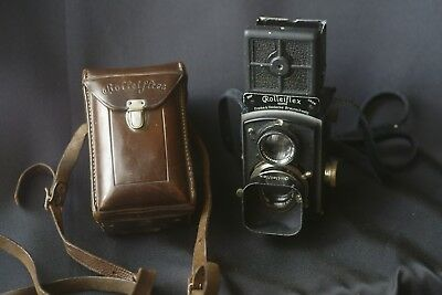 Rare Baby Rolleiflex 1938 4 x 4  60mm f/2.8 Tessar Lens  with case and lens hood