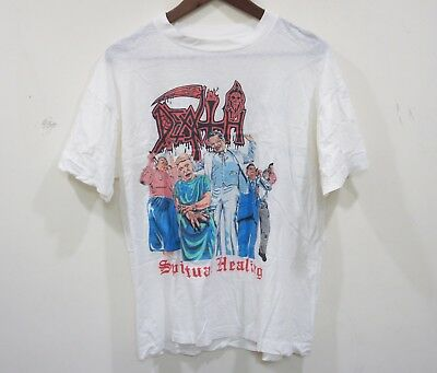 DEATH - ORG 1990 Spiritual Healing Shirt OOP RARE Morbid Angel Suffocation HTF