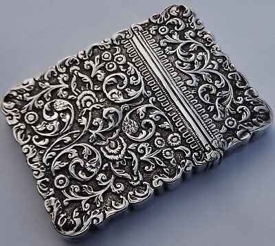 Fine Antique Anglo Indian Islamic Solid Silver Card Case; Kutch c1880