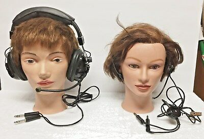 Vintage Airplane Headsets / Air - 680 & Plantronics