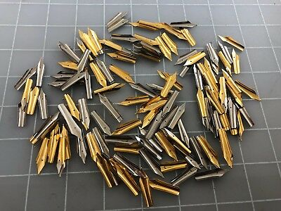Judd's HUGE Lot of 165 New Gold Plated & Steel Fountain Pen Nibs