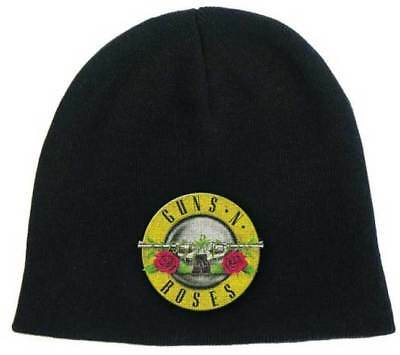 Brand New Adult Guns N Roses Bullet Seal Logo  Embroidered Knit Beanie Hat OSFA
