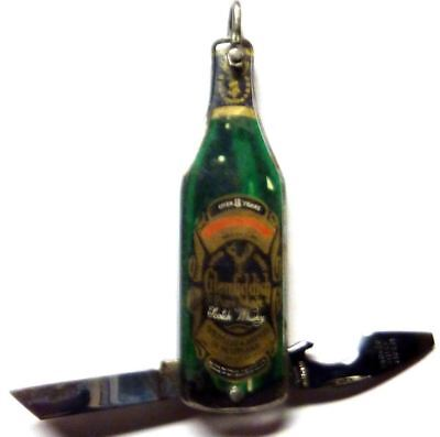 Vintage Glenfiddich Scotch Whiskey Bottle shaped pocket knife & bottle opener !!