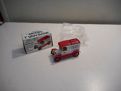 L2662- Ertl 1913 Texaco 1913 Ford Van No.1 collectible bank 1st in series