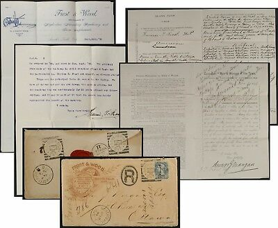 Francis Frost,Smiths Falls, Canada 1895 letter+cover &1896 autobiographical form