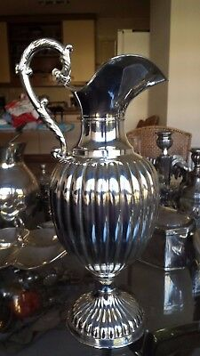 440g HIGH VINTAGE PEARL FRENCH GALLONADA PITCHER sterling SILVER INSPIRED XVIII