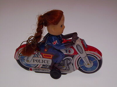 "GSMOTO HAJI JAPAN ""GIRL ON MOTO""  BLECH, 13 cm, FR, NEARLY NEW/NEU/NEUF IN BOX !"