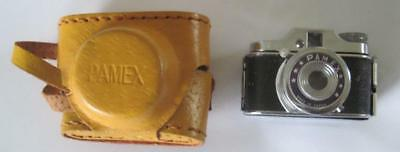 Vintage Pamex Sub Miniature Spy Camera with Case Made in Japan