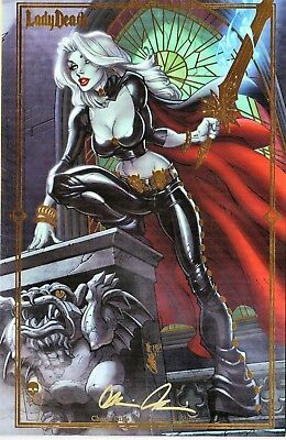 Lady Death Chaos Rules 1 PREMIUM edition signed Brian Pulido COA FREE UK POST