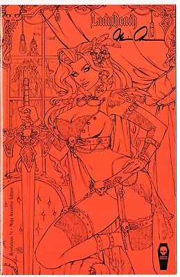 Lady Death Revelations 1 MEGA INCENTIVE edition sign Pulido COA FREE UK POST