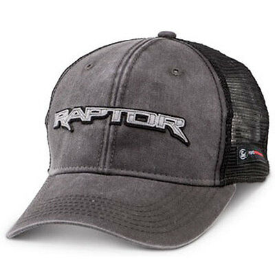 Apparel Trucker Hat Mesh Gray Ford Performance F-150 Raptor