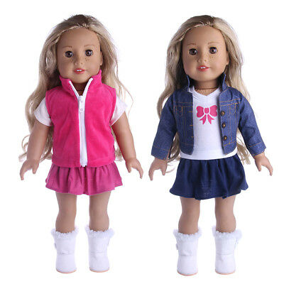 "Doll Clothes Cowboy  Dress Pajamas  Set for 18"" American Girl My Life Dolls"