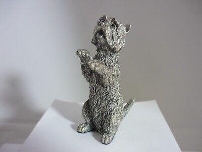 Stunning Vintage Large Sterling Silver West Highland Terrier By Country Artists