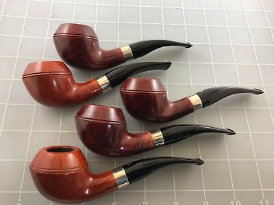 Judd's Lot of 5 NEW Unsmoked T. Cristiano Pipe w/Sterling Silver Bands