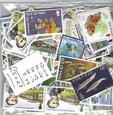 Isle Of Man  Cheap Postage £50 Face Value For £25.00 All Mint With Full  Gum