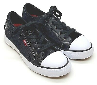 Boys Levi's Stan Buck C Denim Shoes Black Denim Choose Size