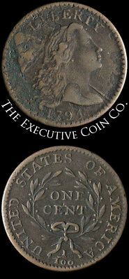 1794 Large Cent Head of 1794 VF Details S.59 R.3- Nice Strike