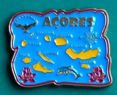 Souvenir Fridge Magnet The Azores Map Of All The Islands Portugal