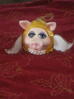 "1979 Vintage Miss Piggy Christmas Ornament Approx 3"" diameter Muppets"