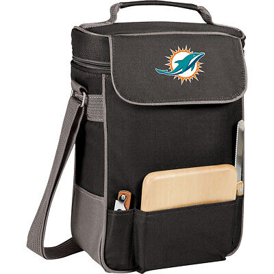 Picnic Time Miami Dolphins Duet Wine & Cheese Tote Outdoor Cooler NEW