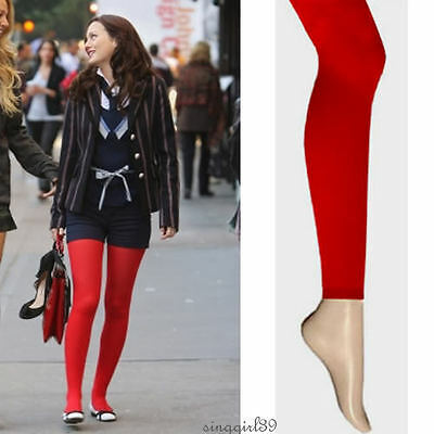 New Red Ankle Length Tights/Hosiery/Stockings