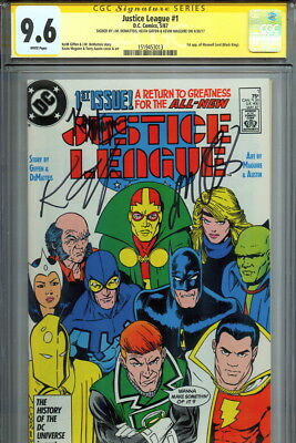 CGC SS 9.6 SIGNED Justice League 1 Kevin Maguire Keith Giffen & JM DeMatteis JLA