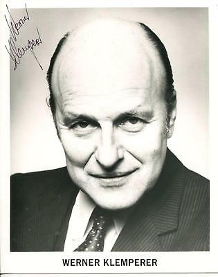Werner Klemperer Autograph Actor As Colonel Klink IN Hogan's Heroes Signed Photo