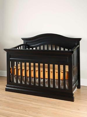 New Westwood Design Stone Harbor 4-in-1 Convertible Crib - Black Model:CE7516DE