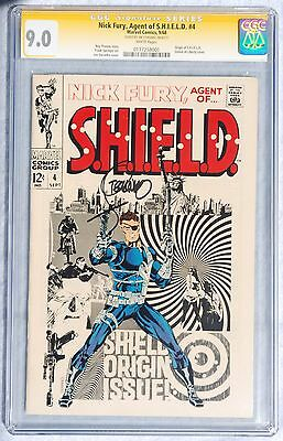 Nick Fury Agent Of Shield 4 Cgc 9.0 Comic 1968 Jim Steranko Signed White Pages