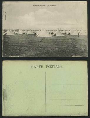 Camp du Ruchard, Vue des Tentes - Military Old Postcard