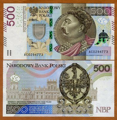 Poland, 500 Zlotych, 2016, P-New, UNC
