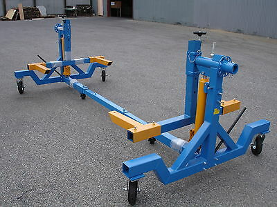 4000LB Cap. Heavy Duty Auto Car Body Rotisserie Twirler Hoist W/Twin 8 Ton Rams