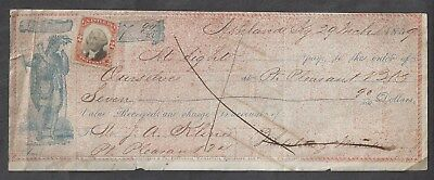 "1859 Ashland Kentucky Bank Draft ""Indian"""