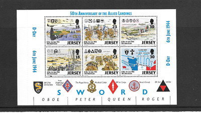 JERSEY 1994 D - Day Anniversary Prestige Stamp Booklet Mixed Pane SG 659b - u/m
