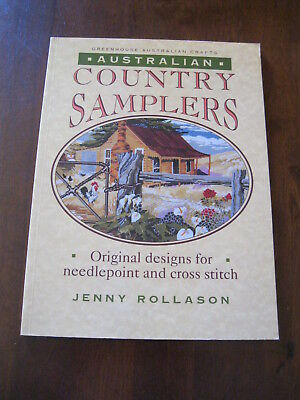 Australian Country Samplers: Needlepoint/cross stitch Patterns: 1993:Preloved