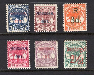 Samoa early overprinted group MH see scans x 2