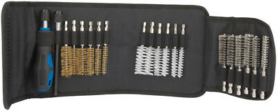 Draper Expert Wire Brush Set for Thread Cleaning Bore Hole Tool With Canvas Case