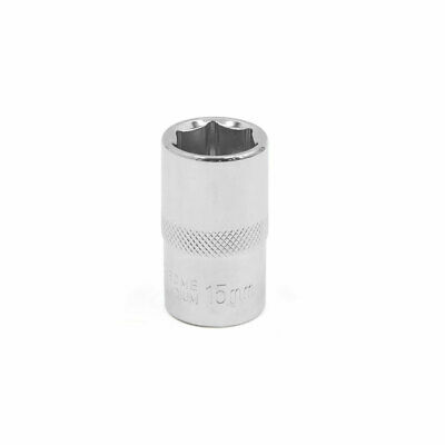 "Auto Car 15mm Hexagon 6 Point Socket Nut Adapter for Wrench 1/2"" Square Drive"