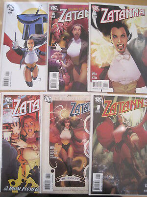 ZATANNA : issues 1,2,4,6,8,9 of the DC 2010 SERIES by PAUL DINI. GREAT COVERS!