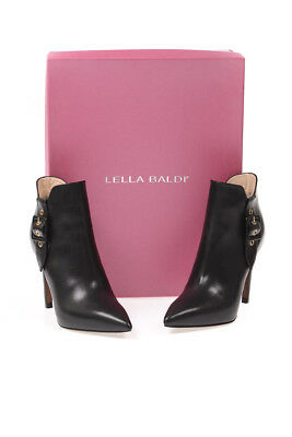 LELLA BALDI ANKLE Boots Leather MADE IN ITALY Woman Black D7541 ... d8abab4510f