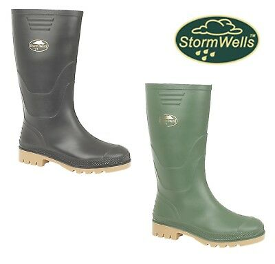BOYS CHILDS KIDS Wellington Boots Black Green Welly Size 10 11 12 13 1 2 3 4 5 6