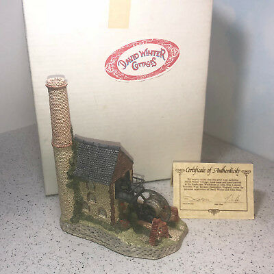 David Winter Cottage House Castle Figurine 1987 Cornish Engine West Country Box